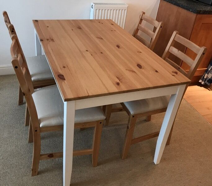 Lerhamn ikea dining table chairs dining set in for Table 4 personnes ikea