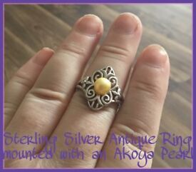 STERLING SILVER ANTIQUE RING