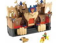Imaginext lion den knight castle boxed