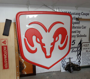 Large Light up Ram Sign  - REDUCED!