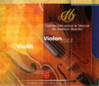 NEW CD VIOLON 2003 / VIOLIN 2003
