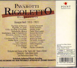 Luciano Pavarotti - Verdi's Rigoletto Highlights (Point) West Island Greater Montréal image 2