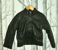 ZARA KIDS Black Pleather Jacket - Age: 5 Years