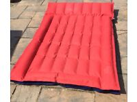 Double rubberised cotton air bed