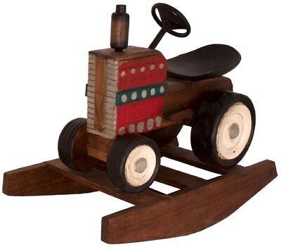 Kinder Holzschaukel Wippe Schaukel Traktor Holz Massiv Asia Möbel China 83cm