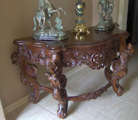 Vintage Stunning French Baroque Console