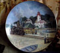 Plate with Kincardine Train Station and Lighthouse