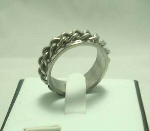 Men Stainless 316L Steel Curb Chain ring size 9--NEW!!