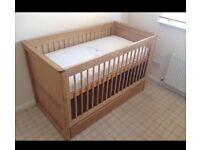 Solid Oak Cot bed