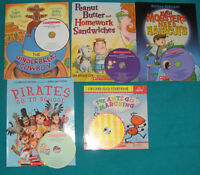 Assorted books with Audio CDs
