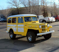 1954 WILLYS OVERLAND WAGON.ON S10 4X4 BLAZER CHASSIS.