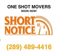 Experienced Movers. Short Notice Ok! (289) 489-4416