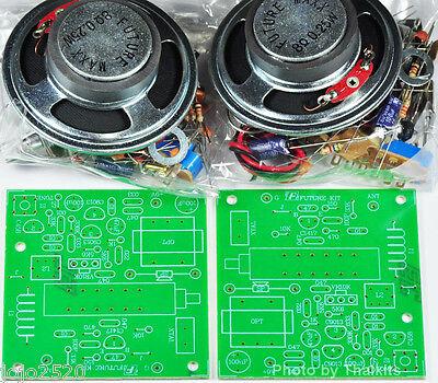 2 set Basic CB radio 27Mhz 150mW Education Unassembed Kit 9VDC [FK711]