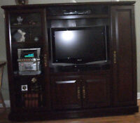 TV Entertainment Unit with LCD TV and DVD Player