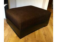 Large Brown And Black Pouf Foot Stool