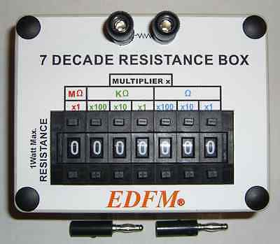 DECADE RESISTANCE SUBSTITUTION BOX 1 WATT With 2 BANANA PLUGS