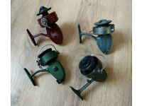Vintage classic fishing reels collection x4