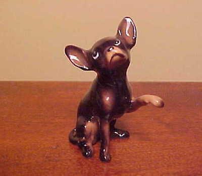 "Hagen-Renaker Mini #1019 Large Chihuahua ""Black"" Miniature Ceramic Dog Figurine"