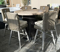 Outdoor patio furniture, fire tables, wicker patio sets, lawn