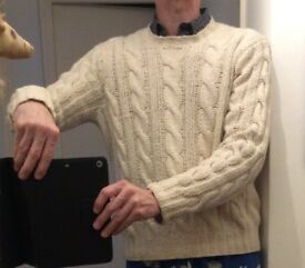 Traditional, hand knit sweater