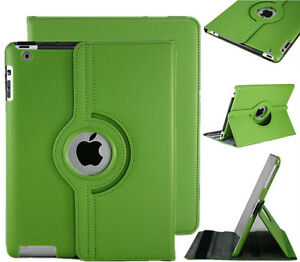 GREEN 360 ROTATING PU LEATHER CASE COVER WITH STAND FOR IPAD AIR