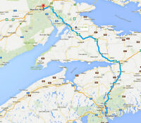 Moncton to Halifax May 25th