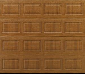 NEW Overstock Garage Door, 8x7 Insulated, Woodgrain, $340 OFF