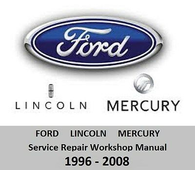 Ford / Lincoln / Mercury - Service Repair Workshop Manual 1996-2008 DVD-ROM