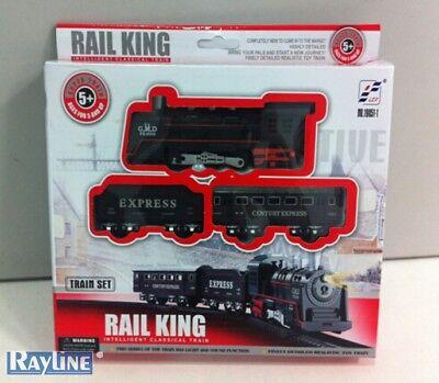 Eisenbahn Set, Zug Set (Batterie), Rail King Licht  Sound, Spielzeugeisenbahn