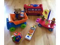 Children's toys, lights and sounds working