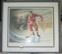 Gordie Howe Print by James Lumbers