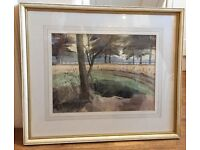 Original watercolour by listed artist