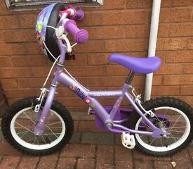 Girls bike excellent apollo petal with hat £20