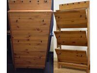 IKEA solid wood shoe storage cabinet with key rack