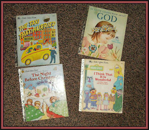 ( 4 ) OLDER --- *LITTLE GOLDEN BOOKS