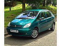 2003 53 Reg Citroen Picasso Desire 1.6 Petrol 5dr 12 Months MOT Service History