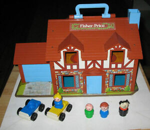 Fisher Price #952 Play Family House Blue