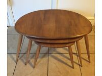 Ercol Pebble nest of coffee tables