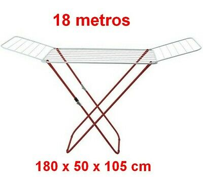 Tendedero Plegable colgador secador de ropa metalico 18 metros,180 x 50 x...