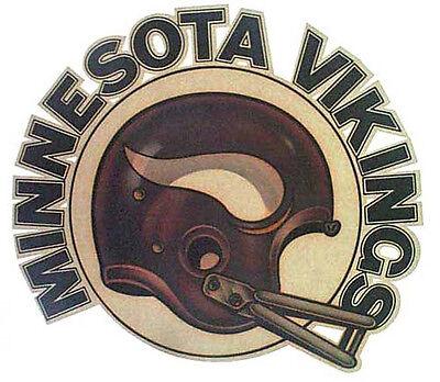 MINNESOTA VIKINGS T-SHIRT IRON-ON FOOTBALL TEAM  NFL THE DOME VINTAGE TRANSFER
