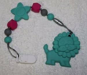 Lion - Silicone Teething Pacifier Clip Greenwood Joondalup Area Preview