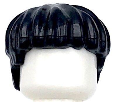 Schwarz Schneiden, Schüssel (Lego Neu Schwarz Minifigur Haar Short Schüssel Schneiden Perücke)