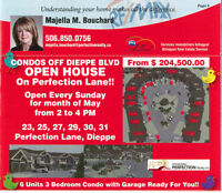 OPEN HOUSE EVERY SUNDAY IN MAY!!! CONDO UNITS FOR SALE IN DIEPPE