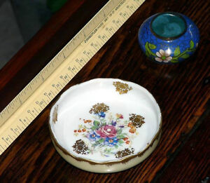 New Price - Birks small handpainted French mint dish-salt cellar