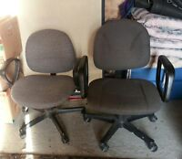 2 computer chairs