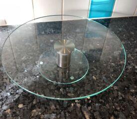 Glass cake stand - rotating