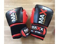 12oz ladies black/red boxing gloves and pads