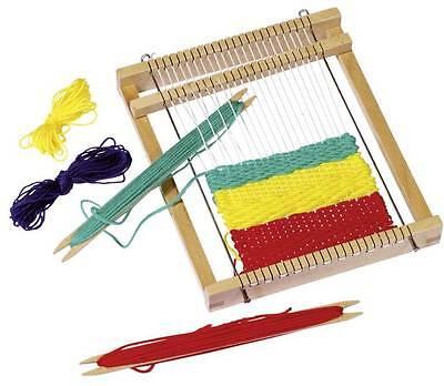 Webrahmen für Kinder aus Holz goki inklusive Wolle Weben Handarbeiten Mädchen