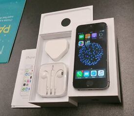 iPhone 5S 32GB GLOBALLY UNLOCKED SPACE GRAY EXCELLENT CONDITION BOXED ACCESSORIES SHOP WARRANTIED