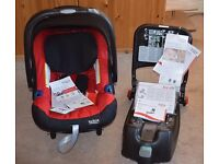 BRAND NEW britax baby safe plus shr ii car seat & Isofix Base - chili pepper